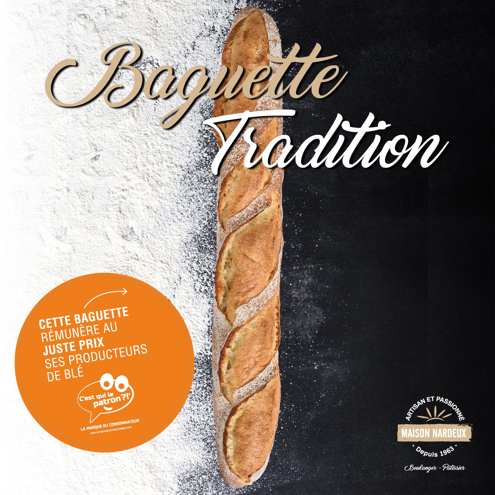 """La Baguette Tradition """"C'est qui le Patron ?!"""" arrive dans vos boulangeries Maison Nardeux !"""